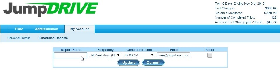 Chage Name of Scheduled Report